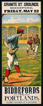 Retro Baseball Game Ad 1885 a by Padre Art