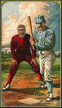 Retro Baseball Game Ad 1885 b crop by Padre Art
