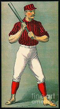 Retro Baseball Game Ad 1885 crop by Padre Art