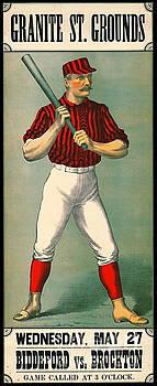 Retro Baseball Game Ad 1885 by Padre Art