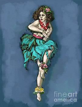 Retro Hula Dancer by Carrie Joy Byrnes