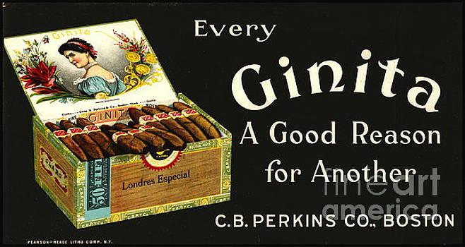 Retro Tobacco Ad 1870 by Padre Art