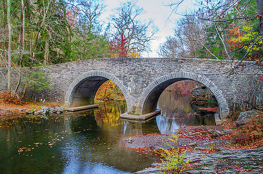 Rex Avenue Bridge in Autumn by Bill Cannon