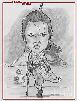 Rey The Force Awakens by Chris DelVecchio