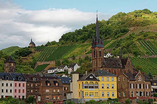 Rhine River Village by Sally Weigand