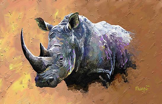 Rhino by Anthony Mwangi