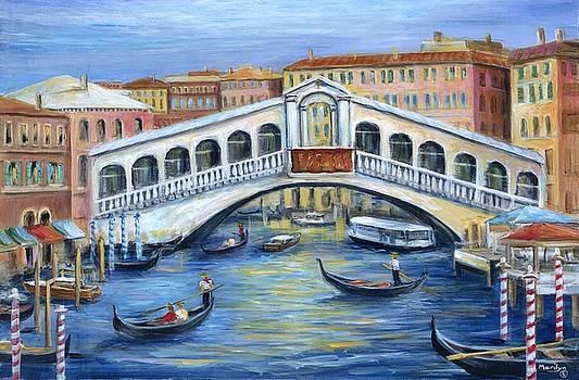 Rialto Bridge Venice by Marilyn Dunlap