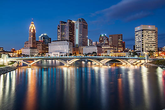 Rich St Bridge Columbus Oh by David Rigg