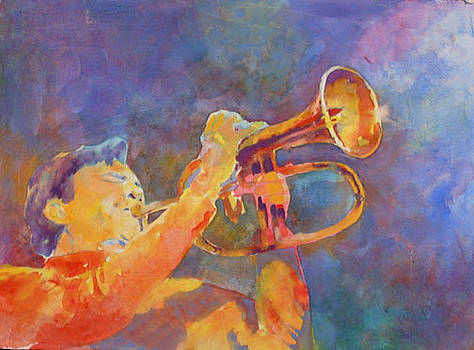 Rick on Flugelhorn by Lynn Millar