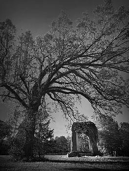 Ridgeway School Doorway Arch in Black and White by Kelly Hazel