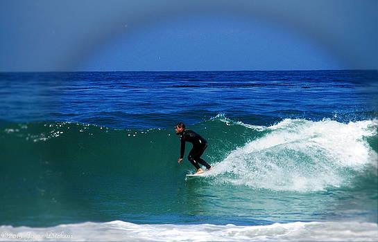 Joyce Dickens - Riding The Waves At Asilomar State Beach II