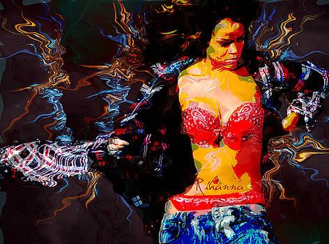 Rihanna Abstract by GBS by Anibal Diaz