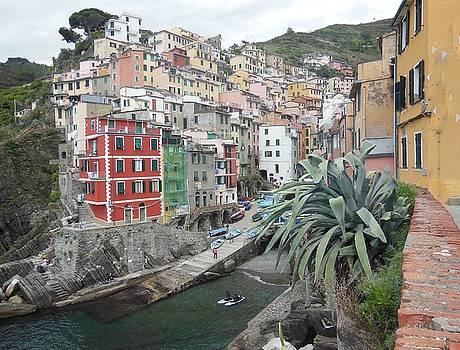 Riomaggiore Cinque Terre by Marilyn Dunlap