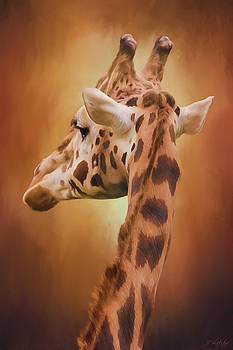 Rising Above - Giraffe Art by Jordan Blackstone