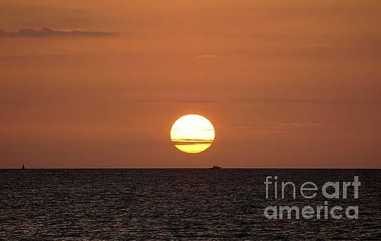 Rising Sun over the Ocean by Lilliana Mendez