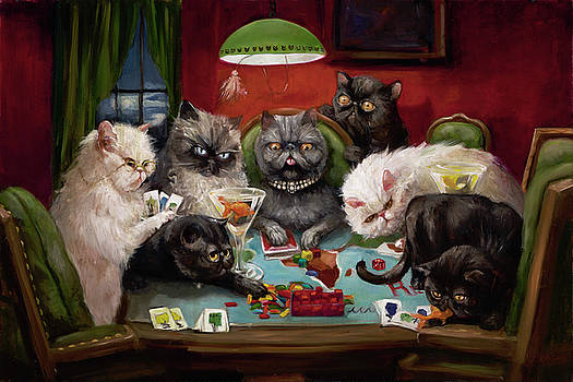 Risk, Cats And Martinis by Margot King