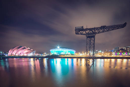 River Clyde at Night by Ray Devlin