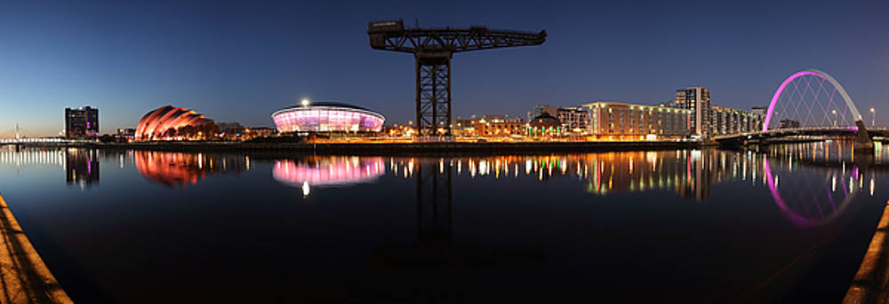 River Clyde Twilight Pano by Grant Glendinning