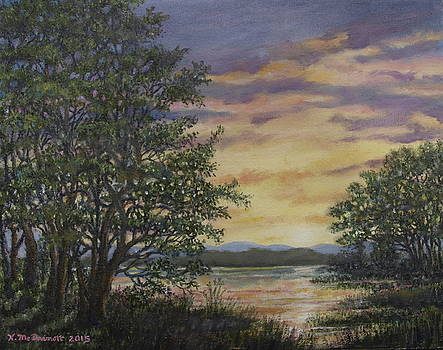 River Cove Sundown by Kathleen McDermott