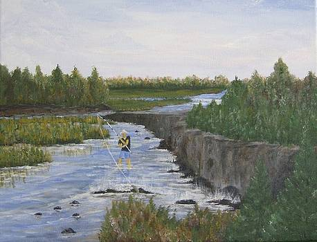 River Fishin' by Linda Bennett