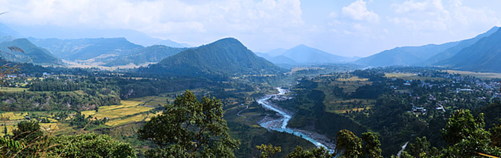 River  flowing from mountain by Atul Daimari