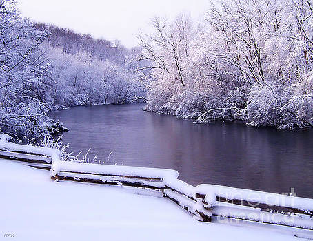 River In Winter by Phil Perkins