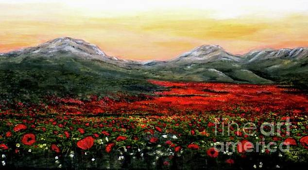 River of Poppies by Judy Kirouac