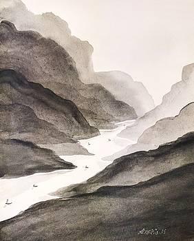 River Running Through Mountains by Edwin Alverio