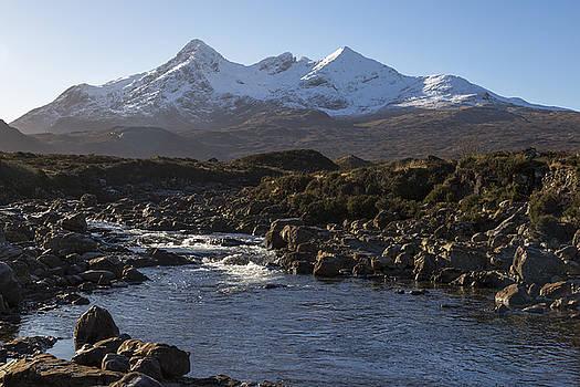 River Sligachan and the Black Cuillin Mountains by Derek Beattie