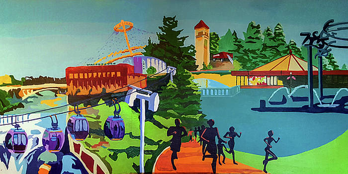Riverfront Park In Color by Tracy Roland