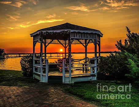 Nick Zelinsky - Riverview Gazebo Sunset