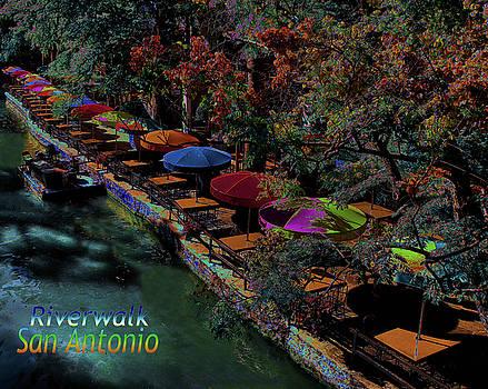 Riverwalk,San Antonio,Texas by Robert McCubbin