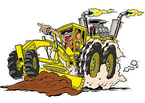 Road Scraper Warrior by Ray Hofstedt