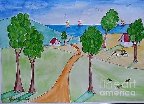 Road to the Ocean by Karleen Kareem