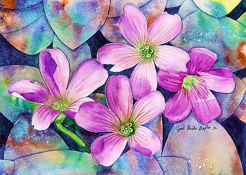 Roadside Flowers Painting by Janet Pancho Gupta