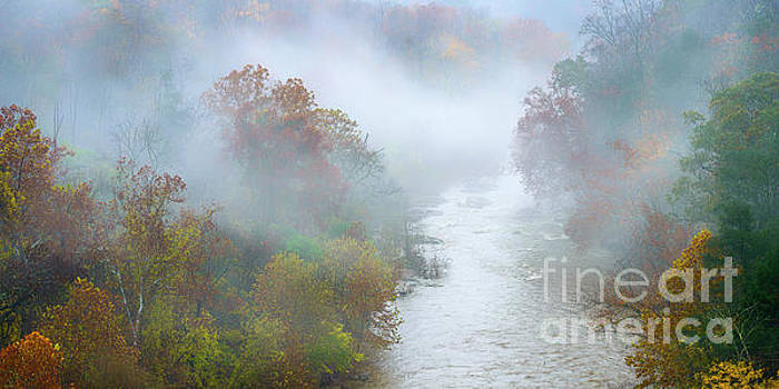 Roanoke River and Fog by Thomas R Fletcher