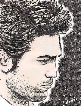 Robert Pattison Sketch by Deborah Rosier