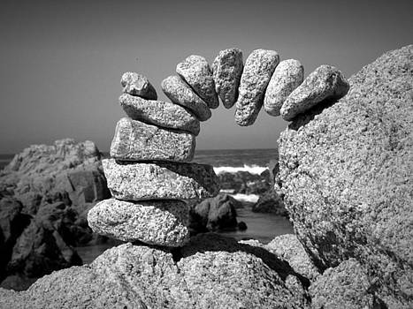 Joyce Dickens - Rock Art One In Black And White