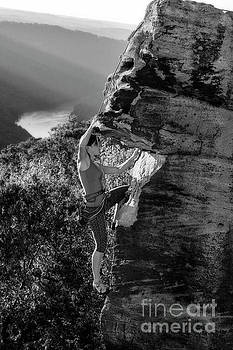 Rock climbing in West Virginia by Dan Friend