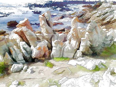 Rock Formation Bettys Bay by Jan Hattingh