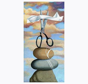 Rock, Paper, Scissors by Linda Apple