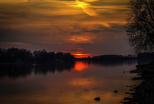 Rock River Setting Sun by Ray Congrove