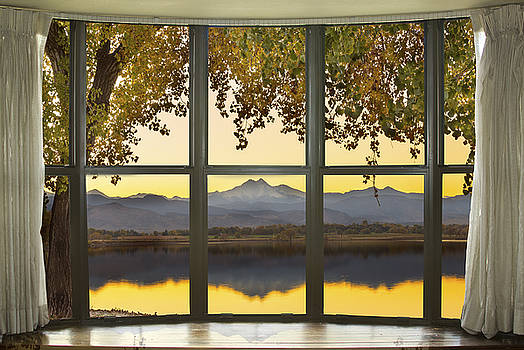 James BO  Insogna - Rocky Mountain Golden Reflections Bay Window View