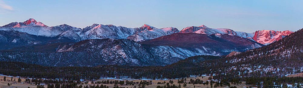 James BO  Insogna - Rocky Mountain National Park First Light Panorama