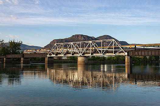 Rocky Mountaineer Crossing the South Thompson by Steve Boyko