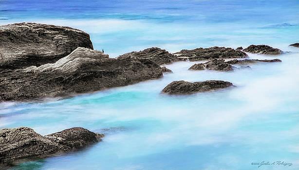 Rocky Ocean by John A Rodriguez