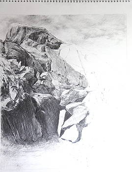 Rocky outcrop in Snowdonia. by Harry Robertson