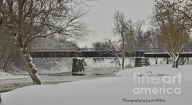 Rocky River Train Bridge by Laurie Wilcox