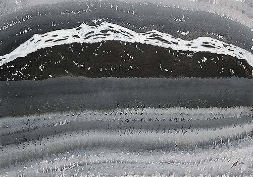 Rocky Winter Nocturne original painting by Sol Luckman