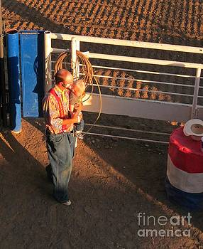 Rodeo Clown and His Child  by John Malone